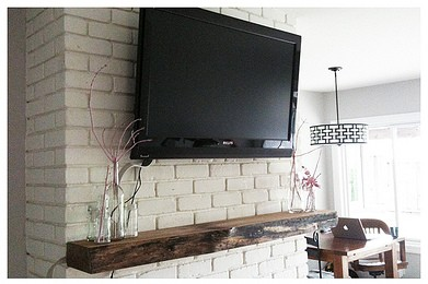 Best Diy Frame For Tv Ideal For Tvus Over Fireplace Mantels And Great For Hiding Messy With Hide Tv Cables Above Fireplace. Stunning Hide Cable Box Side Of Fireplace Google Search Tv Mantletv Above With Hide Tv Cables Above Fireplace. Cheap How To Makeove